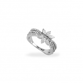 18k White Gold Diamond Ring 1.05ct